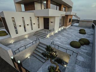 청주시 수동 ......노후된 주택 리모델링 디자인 모던스타일 정원 by 디자인 이업 모던