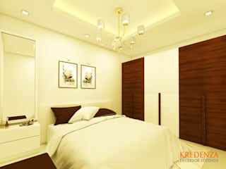 CASA BELVIEW MASTER BEDROOM:  Commercial Spaces by Kredenza Interior Studios