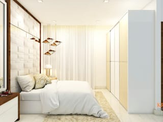 MASTER BEDROOM DESIGNS :  Bedroom by Kredenza Interior Studios
