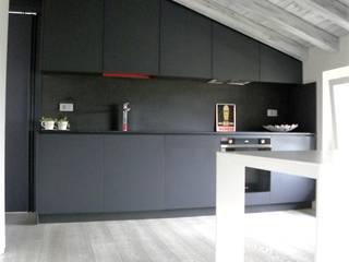 Daniele Franzoni Interior Designer - Architetto d'Interni Modern Kitchen Marble Grey