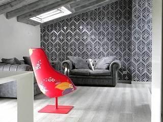 Daniele Franzoni Interior Designer - Architetto d'Interni Modern Living Room Solid Wood Grey