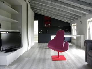Daniele Franzoni Interior Designer - Architetto d'Interni Modern Living Room Wood Grey