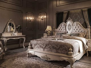 LUXURY LINE FURNITURE BedroomBeds & headboards Wood White