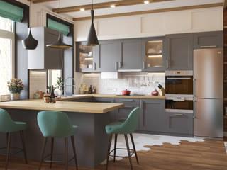 Дизайн-проект таунхауса в КП Кембридж, 120 кв. м.: Гостиная в . Автор – Loft&Home
