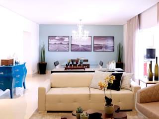 Rustik Oturma Odası Haus Brasil Arquitetura e Interiores Rustik