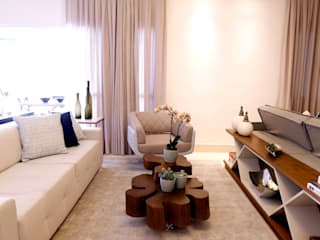 Apartamento Nova Petrópolis - São Bernardo do Campo Haus Brasil Arquitetura e Interiores Salas de estar rústicas Cinza