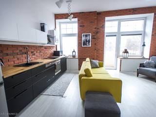 Mieszkanie w stylu industrialnym.: styl , w kategorii Kuchnia zaprojektowany przez Pasja Do Wnętrz