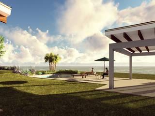 Casa de Playa Jardines de estilo mediterráneo de Atelier Arquitectura Mediterráneo