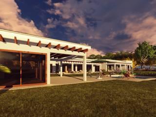 Casa de Playa Balcones y terrazas mediterráneos de Atelier Arquitectura Mediterráneo