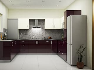 U-Shaped Modular Kitchen Design In Ghaziabad & Greater Noida:   by Wallsfloor.com