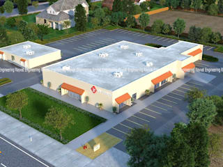 3D Aerial View Rendering Services Industrial style conservatory by Rayvat Rendering Studio Industrial