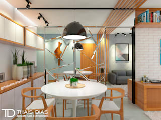 Sala de Estar e Jantar Salas de jantar modernas por Thaís Dias Arquitura e Interiores Moderno
