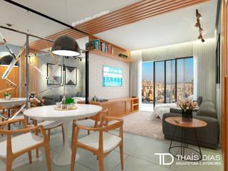 Sala de Estar e Jantar Salas de estar modernas por Thaís Dias Arquitura e Interiores Moderno