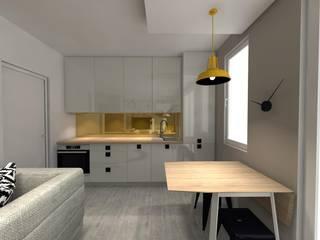 Projekt kawalerki: styl , w kategorii  zaprojektowany przez Art House Studio