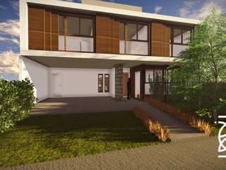 Residência D. D.: Casas familiares  por TELLUS ARQUITETURA SUSTENTÁVEL,Moderno