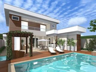 Projeto Residencial: Piscinas de jardim  por Adriana Bartolomucci,Moderno