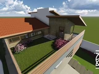 Residência I. H.: Casas familiares  por TELLUS ARQUITETURA SUSTENTÁVEL,Moderno