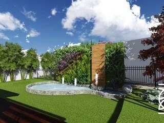 Residência I. H.: Lagos e Lagoas de jardins  por TELLUS ARQUITETURA SUSTENTÁVEL,Moderno