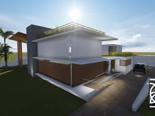Residência A. C.: Casas familiares  por TELLUS ARQUITETURA SUSTENTÁVEL,Moderno