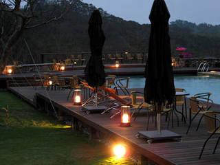 Patios & Decks by ABOON custom lightings, Mediterranean