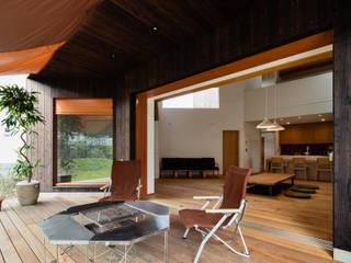 葉山一色の家 アジア風 庭 の 内海聡建築設計事務所 和風
