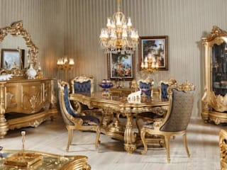 LUXURY LINE FURNITURE Dining roomTables Wood Amber/Gold