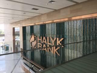 YBM Tasarım Dekoratif Cam Paneller – HALYK BANK - Kazakistan:  tarz Ofis Alanları