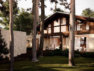 Дом в Новосибирске: Загородные дома в . Автор – Архитектурная студия Чадо