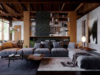 Интерьер гостиной: Гостиная в . Автор – Архитектурная студия Чадо