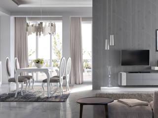¿Diseños increíbles para su salón comedor? Conozca la nueva Colección Milán, de Huertas Furniture de Huertas Furniture Moderno