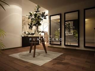 Proyecto 3d Santa Fe: Pasillos y recibidores de estilo  por Punto Cero