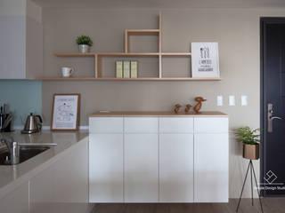 아시아스타일 복도, 현관 & 계단 by 極簡室內設計 Simple Design Studio 한옥
