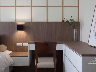 아시아스타일 침실 by 極簡室內設計 Simple Design Studio 한옥