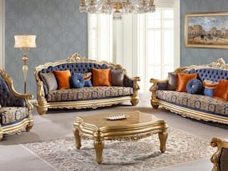 LUXURY LINE FURNITURE Living roomSofas & armchairs Kayu Blue
