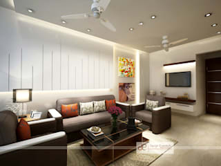 Residence at Dwarka Modern living room by Design Essentials Modern