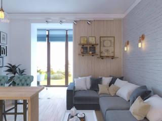 Дизайн-проект в Парк Авеню, 62 кв.м.: Гостиная в . Автор – Loft&Home