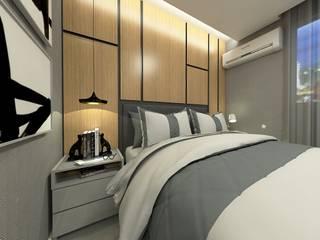 Apartamento: Quartos  por Letícia Saldanha Arquitetura
