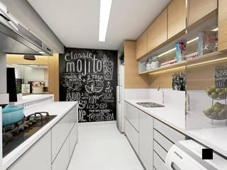 現代廚房設計點子、靈感&圖片 根據 Letícia Saldanha Arquitetura 現代風