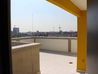 Condominio Vertiz 84 bis: Terrazas de estilo  por Nube Interiorismo