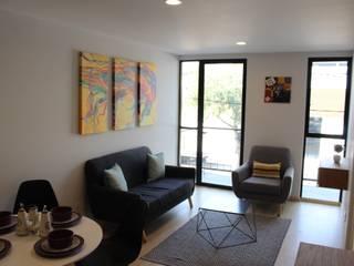 Dpto Muestra Condominio Vertiz 84 bis:  de estilo  por Nube Interiorismo