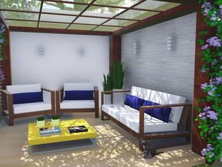 Giardino Zen in stile  di Alice Pucker Design de Interiores, Rustico