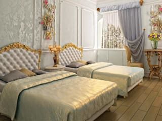 LUXURY LINE FURNITURE BedroomBeds & headboards Wood Amber/Gold