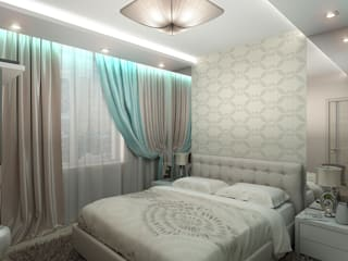Dormitorios de estilo ecléctico de ИП Поварова Татьяна Владимировна Ecléctico