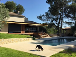Rénovation d'une maison dans les Bouches du Rhône Maisons méditerranéennes par Grégory Cugnet ARCHITECTE Méditerranéen