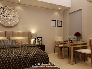 JESSICA DESIGN STUDIO Modern style bedroom Beige