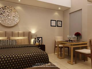 U RESIDENCE 1 STUDIO APARTMENT JESSICA DESIGN STUDIO Modern Bedroom Beige