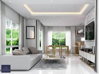 Modern Zen - Habitia Bond ราชพฤกษ์ โดย BAANSOOK Design & Living Co., Ltd.
