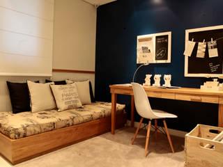SP Arquitetos Eclectic style bedroom