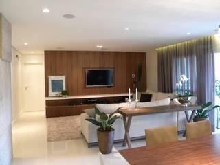 Apartamento residencial Salas de estar ecléticas por SP Arquitetos Eclético