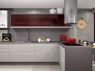 Cozinha Moderna: Cozinhas  por Lélia Chitarra